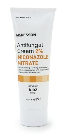 Antifungal Cream 2% Miconazole Nitrate 4 Oz Tube Formerly Repara New Packaging by McKesson (Miconazole Nitrate 2% Antifungal)