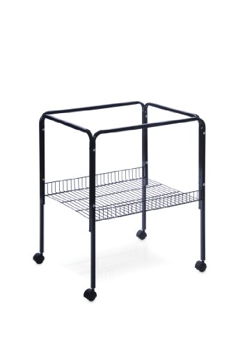 - Prevue Pet Products Rolling Stand with Shelf, Black