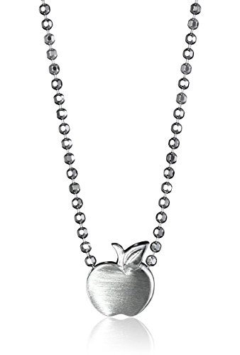 Alex Woo Little Apple in Sterling Silver Pendant Necklace, 16'' by Alex Woo