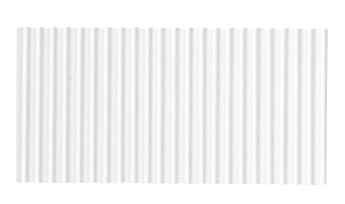 Colour Roll - Corobuff Solid Color Corrugated Paper Roll, 48 Inches x 25 Feet, White (Expedition Norway)