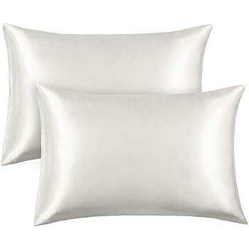 Amazon Com Famirosa Silk Satin Pillowcase 2 Pack Queen