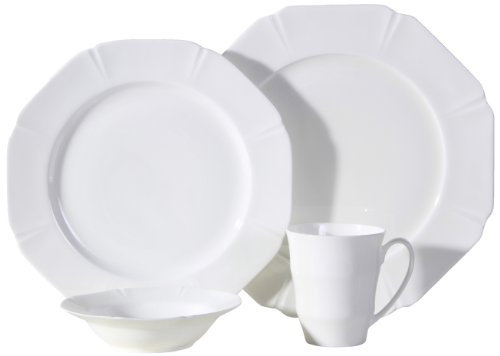 Auratic CY 16-Piece Dinner set, Service for 4, Fine Bone China (Bone China Fine China Dinnerware Set)