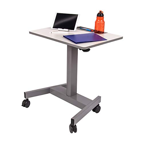 """Pneumatic Adjustable Height Student Desk   Classroom Desk - Lets Kids Stand or Sit While They Learn, 27.5"""" W"""