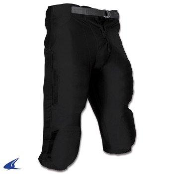 Football Dazzle Pants (Champro Youth Stretch Dazzle Snap Football Pant, Black, LG)