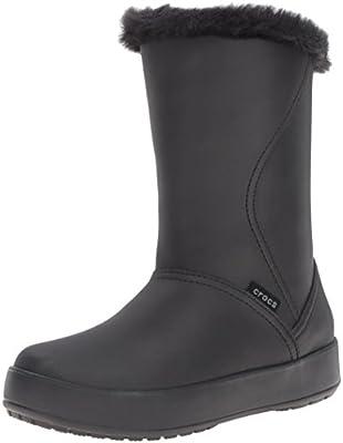 c1b32b5fcf867 Crocs Women's ColorLite Mid Boot W Ankle Bootie, Black/Black, 7 US/7 ...