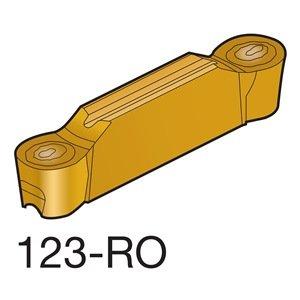 Pack of 10 Sandvik Coromant CoroCut 2-Edge Carbide Profiling Insert J Insert Seat Size N123J2-0600-RO 2 Cutting Edges 0.1181 Corner Radius Uncoated H13A Grade