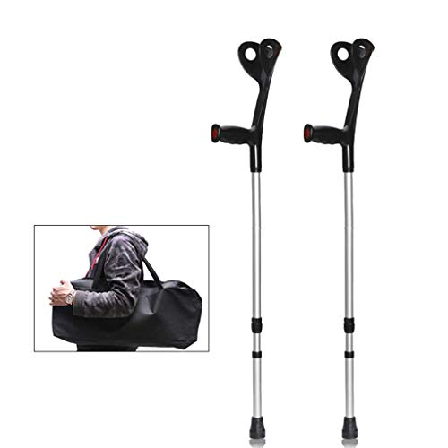 LQUIDE Underarm Crutch Freedom Edition Adjustable Lightweight Folding Portable Hand Cane,Balancing Mobility Aid Drive Medical Cane for Men Women(a Pair)
