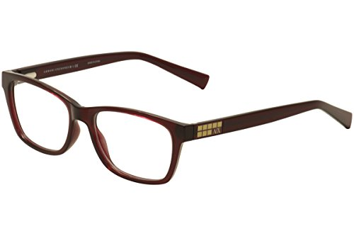 ARMANI EXCHANGE Monture lunettes de vue AX 3006 8003 Berry Transparent 55MM
