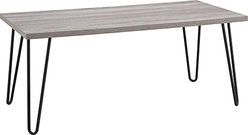 Altra Furniture Owen Retro Coffee Table with Metal Legs, Sonoma Oak Gunmetal Gray