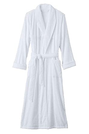 Image Unavailable. Image not available for. Color  Lightweight White Terry  Velour Bathrobe ... 616232646