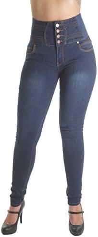 WG0059B – Colombian Design, Levanta Cola, Elastic High Waist Skinny Jeans