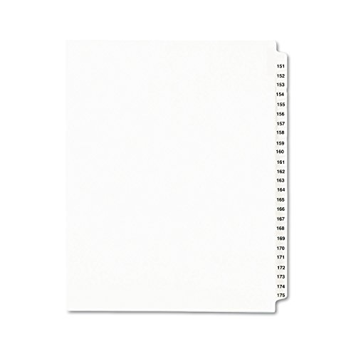 Avery Legal Dividers, Standard Collated Sets, 151-175 Tab Set (01336) ()