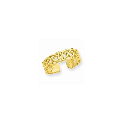 Ring Celtic Toe 14k (14k Celtic Toe Ring, Best Quality Free Gift Box)