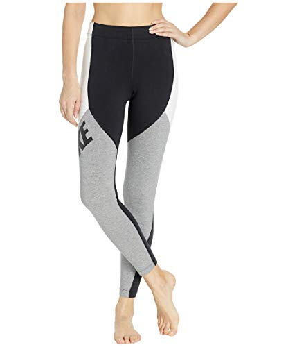 (Nike Women's Sportswear Legasee Leggings CB Black/White/Carbon Heather/Black X-Small)