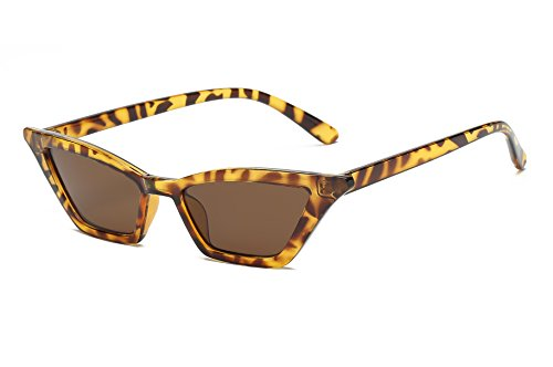 FEISEDY Small Cat Eye Sunglasses Vintage Square Shade Women Eyewear ()