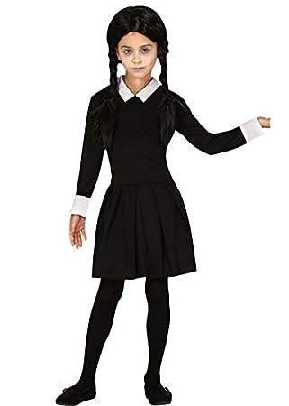 Disfraz gótico Estilo miércoles de Halloween para niños Medium (7 ...