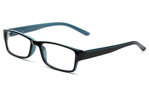 Newbee Fashion - Unisex Two Tone Sleek Spring Temple Fashion Clear Lens - Bans Ray Sale Glasses On