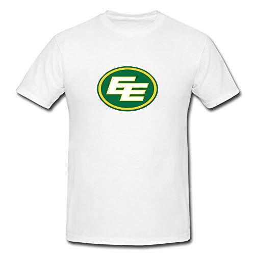 SSTS Print Edmonton Eskimos CFL Canadian Football T-Shirt - Modern Look - Sport Men Wear (Medium) White