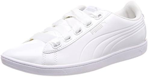 Puma Women Vikky Ribbon P Low Top Sneakers, White (Puma