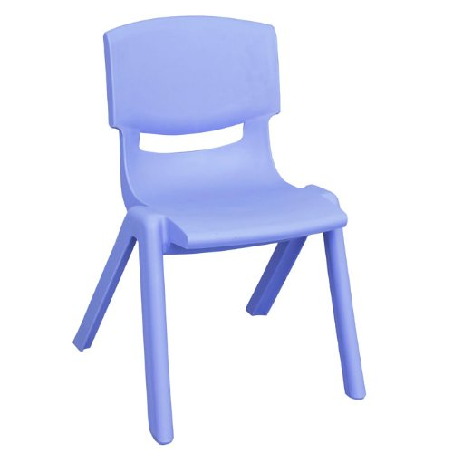 Polypropylene Classroom Stackable Chair Seat Color: Blue, Seat Height: 12'' by ECR4Kids