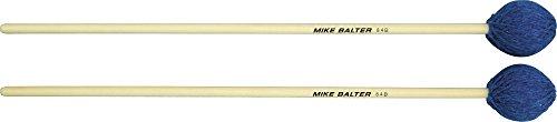 Mike Balter Contemporary Series Birch Marimba Mallets Blue Yarn Medium - Series Medium Marimba Soft