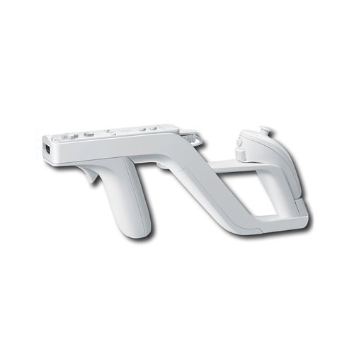 OSTENT Zapper Light Gun Attachment Compatible for Nintendo Wii Remote Nunchuck Shoot Sport Games