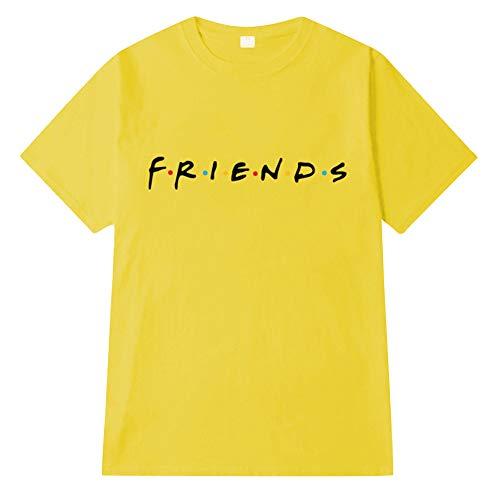 mujer Top manga de corta Casual Top 19 Amigos Camiseta Color elegante con de Camiseta Impreso verano de cuello redondo casual q7SA5Fw