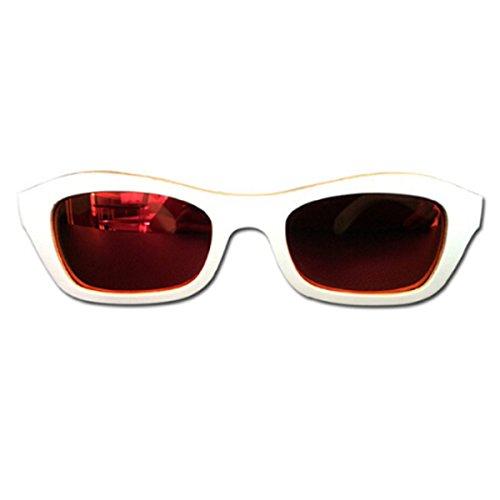 Gafas Bambú Grey Red Medio HAOYUXIANG Sol Polarizado Ojo De De Señoras Tendencia Marco Gato 0zw6Sq4wxH
