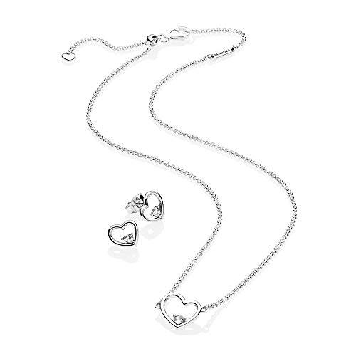 [판도라] PANDORA Shape of My Heart 귀걸이 목걸이 세트 정식 수입품 B801097