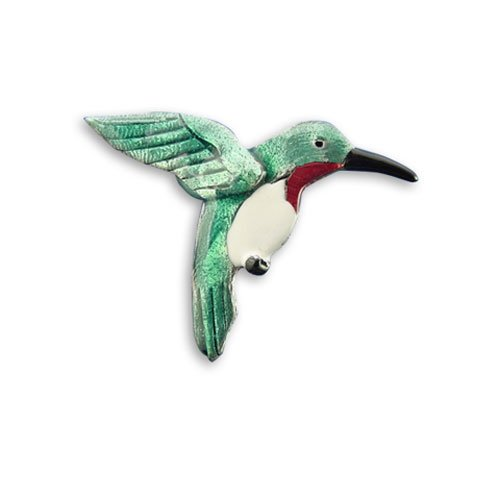 Enamel Hummingbird Pin by The Magic Zoo