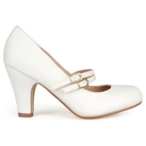 - Brinley Co Women's Jackie Dress Pump, White, 7.5 M US