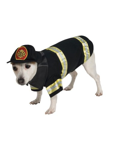 Cat & Dog Costume Firefighter Large (Dog Firefighter Costume)