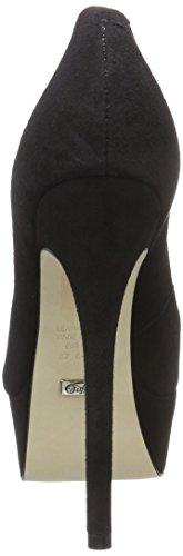 Buffalo London 176676, Zapatos de Tacón Mujer Negro (Black 01)