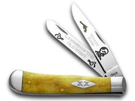CASE XX Collector's Wyatt Earp 1/500 Antique Bone Trapper Pocket Knife Knives