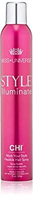 Miss Universe Work Your Style Flexible CHI Hair Spray Unisex 12 oz