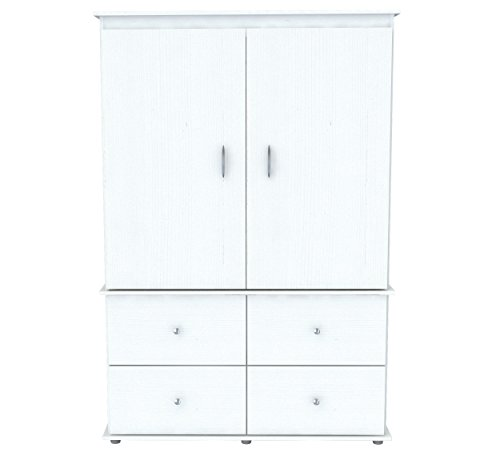 Inval America AM-15123 Laricina-White Armoire/ Audio/Video Combo - Tv Armoire Wardrobe