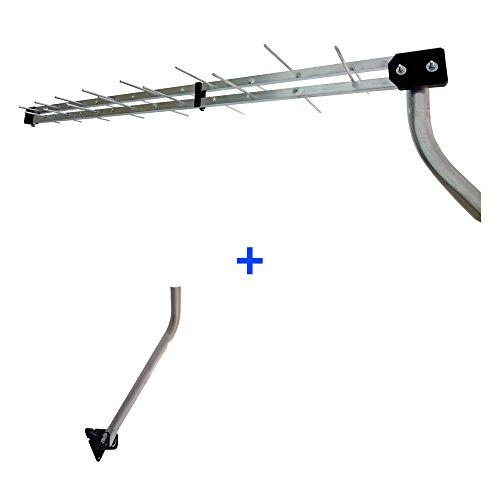 Kit Antena Digital Externa UHF Log 28 + Suporte para Antena