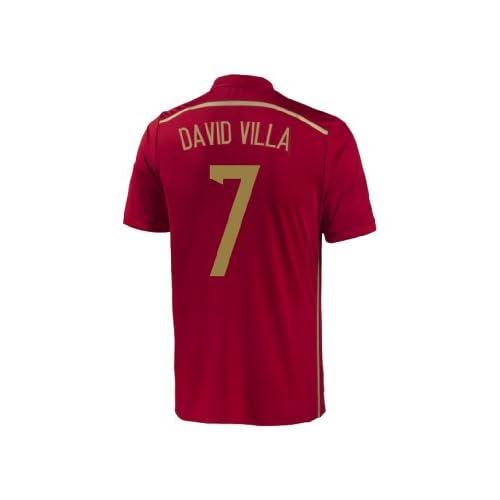 Nice Adidas DAVID VILLA #7 Spain Home Jersey World Cup 2014 YOUTH supplier