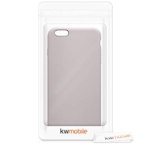 kwmobile TPU Silicone Case Compatible with Apple iPhone 6 Plus / 6S Plus - Soft Flexible Rubber Protective Cover - Light Taupe