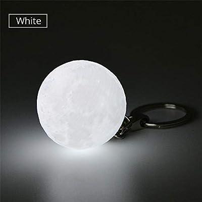 Amazon.com: AIMENGTE - Llavero con diseño de luna en 3D para ...