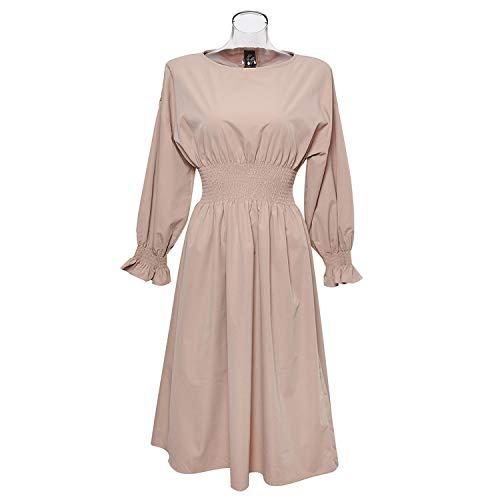 Original 2018 Women's Dress Autumn and Winter Europe and The United States Temperament Dress,Khaki,L