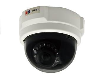 ACTi E53 - Cámara de vigilancia en domo de 3 Mp, blanco