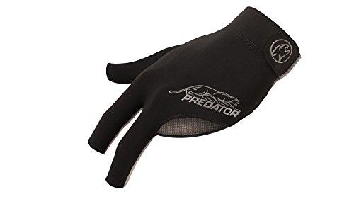 Predator Second Skin Black/Gray Pool Cue Glove - S/M