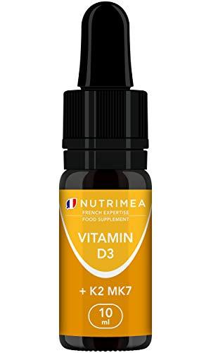 Vitamin D3 & K2 (MK7) Drops – 100% Pure and Vegan – Natural Origin with Organic Olive Oil – Strengthens The Immune…
