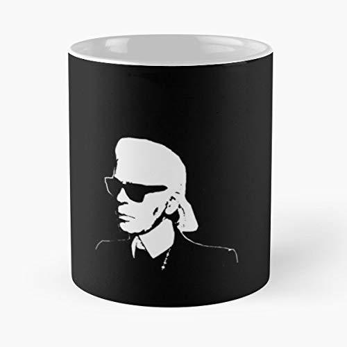 Karl Lagerfeld Fashion Chanel Paris Funny Christmas Day Mug Gifts Ideas For Mom - Great Ceramic Coffee Tea Cup
