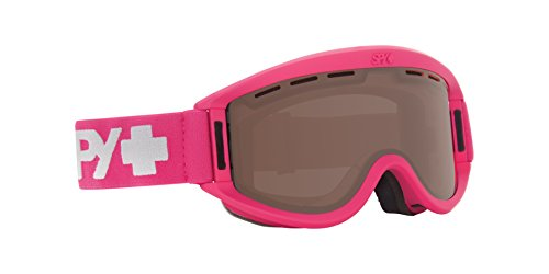 SPY Optic Getaway Snow Goggles | Mid-Sized Ski, Snowboard or Snowmobile Goggle | Clean Design and All Day Comfort | Scoop Vent Tech | Matte Raspberry