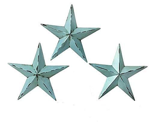 23578 Western Star Metal Wall Decor Texas Barn 3 Pcs 12 Inch