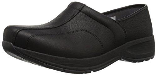 Dansko Women's Shaina Clog, Black Tumbled Pull up up, 38 M EU (7.5-8 US) (Slip Resistant Shoes Dansko)