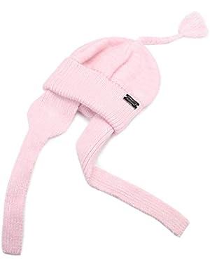 Infant Baby Girls Winter Warm Knit Hat Toddler Kid Crochet Hairball Beanie Cap