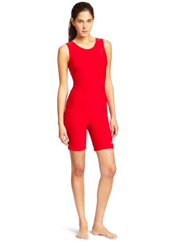 ASICS Women's Solid Modified Wrestling Singlet, Red, Small